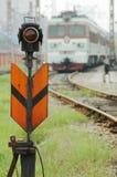 Het signaal van de trein royalty-vrije stock foto