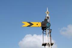 Het Signaal van de Trein van de spoorweg. royalty-vrije stock foto