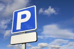 Het signaal van het parkeren stock afbeeldingen