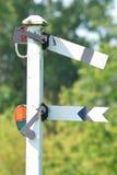 Het signaal van het spoor Stock Afbeeldingen