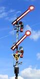 Het signaal van het spoor Stock Afbeelding