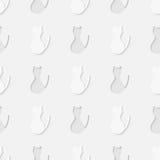 Het silhouet naadloos patroon van het kattenlichaam Royalty-vrije Stock Fotografie
