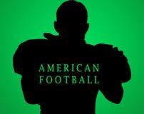 Het silhouet van Amerikaanse voetbalster Royalty-vrije Stock Foto