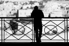 Het Silhouet van Barrakka Stock Foto's