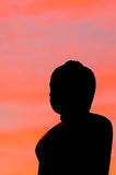 Het silhouet van Boedha Royalty-vrije Stock Foto's