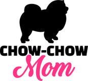 Het silhouet van het chow-chowmamma Royalty-vrije Stock Foto