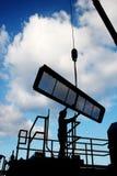 Het silhouet van de arbeider Stock Afbeeldingen