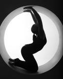 Het silhouet van de atleet stock afbeeldingen