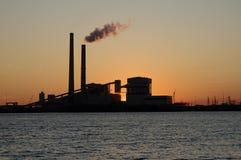 Het Silhouet van de Avond van de Macht van Sommer van Deely Royalty-vrije Stock Foto's