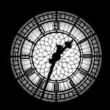 Het silhouet van de Big Ben Royalty-vrije Stock Foto's