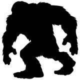 Het Silhouet van de Bigfootmascotte Stock Afbeeldingen