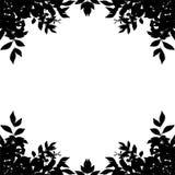 Het silhouet van de bladgrens op witte achtergrond Het knippen pa Royalty-vrije Stock Afbeelding