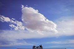 Het Silhouet van de boerderijingang royalty-vrije stock foto