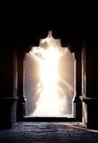 Het silhouet van de boog bij zonsondergang Stock Afbeeldingen