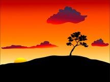 Het Silhouet van de boom stock illustratie