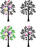 Het silhouet van de boom op witte achtergrond Royalty-vrije Stock Foto