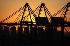 Het silhouet van de bouw Royalty-vrije Stock Afbeeldingen