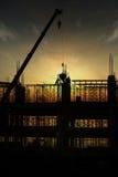 Het silhouet van de bouw Stock Afbeeldingen