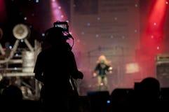 Het silhouet van de cameraman Stock Fotografie