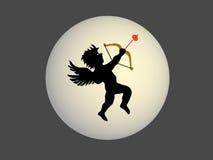 Het silhouet van de Cupido Stock Afbeelding