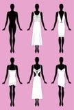 Het silhouet van de dame Stock Afbeeldingen