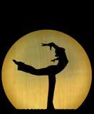 Het silhouet van de dans Stock Afbeeldingen