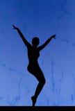 Het silhouet van de dans Stock Afbeelding