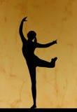 Het silhouet van de dans Stock Foto's