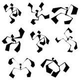Het silhouet van de danser vector illustratie