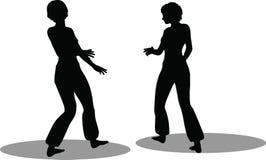 Het silhouet van de dansersvrouw Royalty-vrije Stock Foto