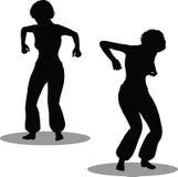 Het silhouet van de dansersvrouw Royalty-vrije Stock Fotografie