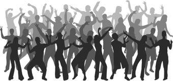 Het silhouet van de disco Stock Afbeelding