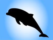 Het silhouet van de dolfijn Stock Afbeelding