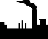 Het silhouet van de fabriek Royalty-vrije Stock Afbeeldingen