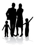 Het silhouet van de familie Royalty-vrije Stock Fotografie