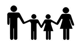 Het silhouet van de familie Royalty-vrije Stock Foto's