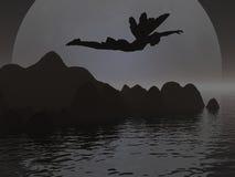 Het Silhouet van de fee stock illustratie