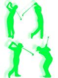 Het silhouet van de golfspeler Royalty-vrije Stock Foto