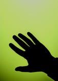 Het silhouet van de hand Stock Afbeeldingen
