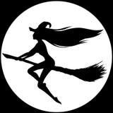 Het silhouet van de heks Royalty-vrije Stock Afbeeldingen