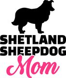 Het silhouet van het de Herdershondmamma van Shetland stock illustratie
