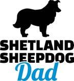 Het silhouet van de de Herdershondpapa van Shetland royalty-vrije illustratie