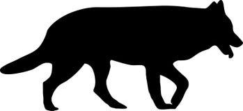 Het silhouet van de hond royalty-vrije illustratie