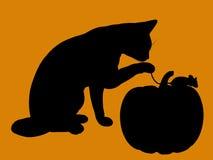 Het silhouet van de Illustratie van Halloween Stock Afbeeldingen