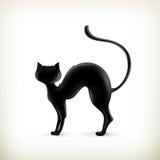 Het silhouet van de kat Stock Afbeeldingen