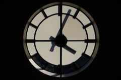 Het silhouet van de klok Stock Foto