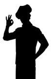Het silhouet van de kokchef-kok Stock Foto
