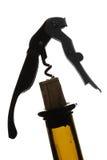 Het Silhouet van de kurketrekker stock fotografie