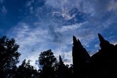 Het Silhouet van de pagode Stock Fotografie