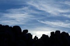 Het Silhouet van de rots Royalty-vrije Stock Foto